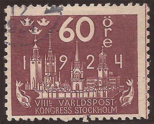 Sweden - 1924 60o Stockholm Skyline - - Scott - Usps Sweden