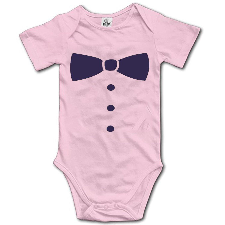 DHDFHDF Baby Onesie Necktie Jumpsuit Soft Creeper Romper Comfy Bodysuit