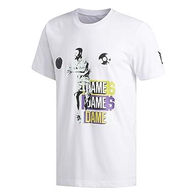 78ab62100d5 Adidas Men's Dame 5 Graphic T-Shirt, White (White), Small: Amazon.ae