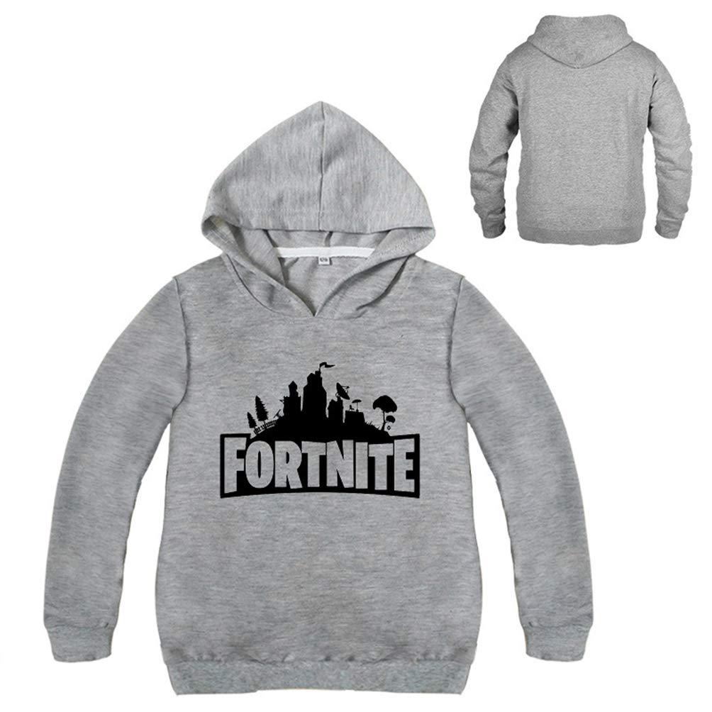ZeeGooCo Kids Fortnite Hoodie Boys Girls Cotton Crewneck Sweatshirt