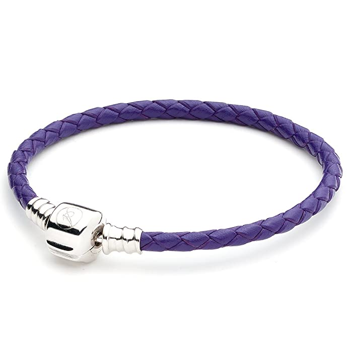 ATHENAIE Black Single Braided Leather 925 Sterling Silver Snap Clasp Bracelet Fits Fit All European Charm Bead 4ZMDpVfP