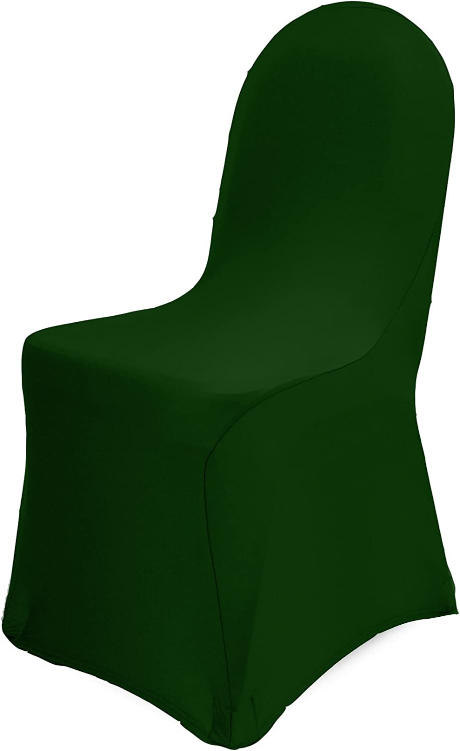 Ultimate Textile -10 Pack- Spandex Stretch Banquet Chair Covers Hunter Green