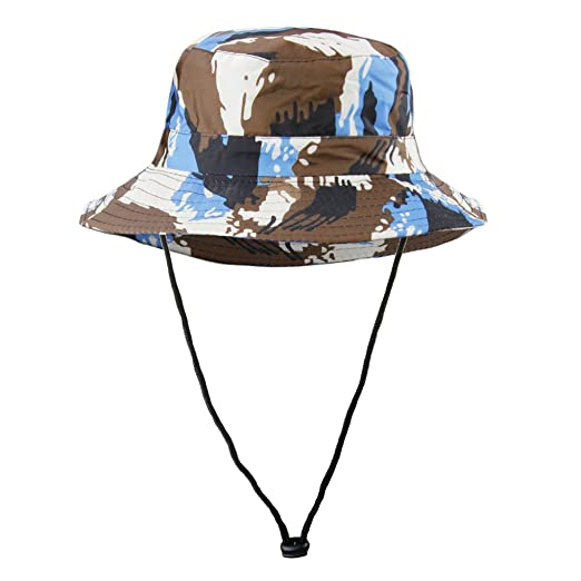 Amazon.com  Kids Wide Brim UV Boonie Hat Sun Visor Protection Cap ... 073fbe4b1ca