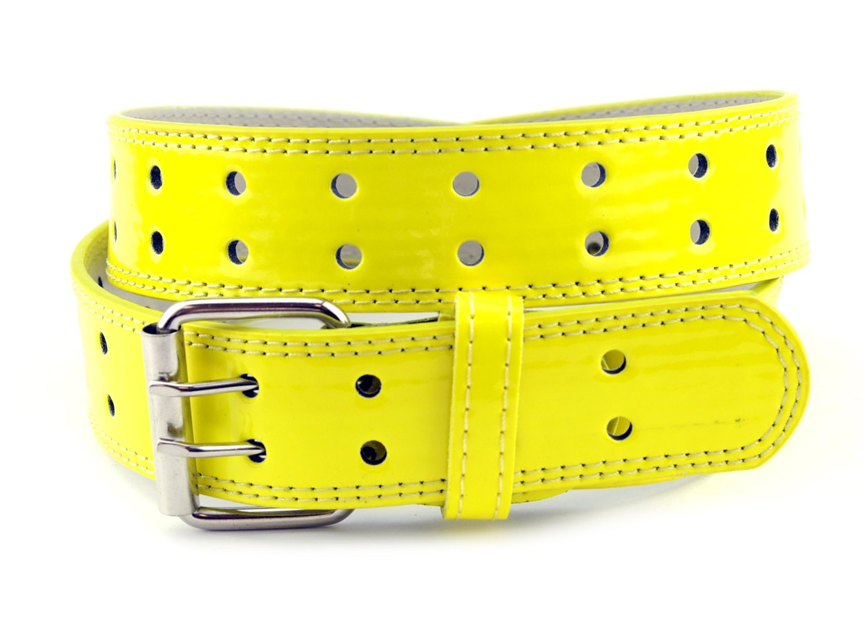 EURO Womens Thick Wide 2 Hole Leather Belt - BN9041