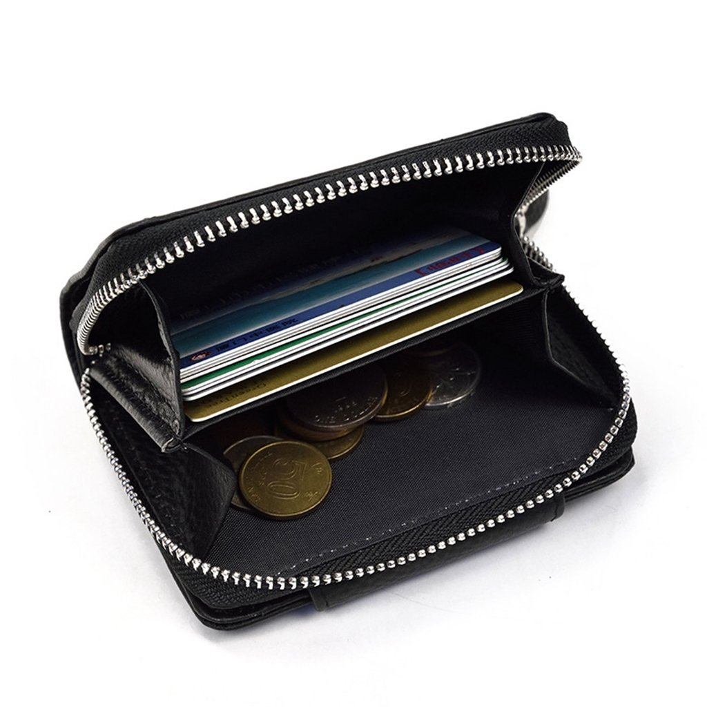 Mens Leather Wallet RFID Blocking Credit Card Holder Coin Pocket Purse 11x10x2.5CM