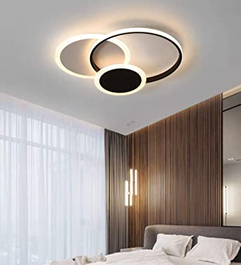 Zqq87 - Lámpara de techo cuadrada y anilla regulable para ...