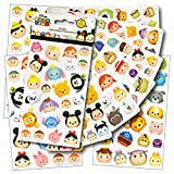 Disney Tsum Tsum Stickers Pack Featuring Tsum Tsum Characters Mickey Mouse, Minnie Mouse, Frozen, Toy Story, Monsters Inc & More