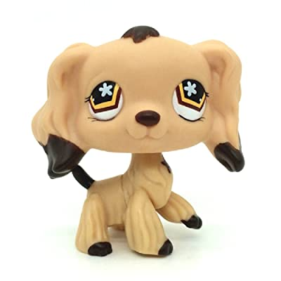 kenven Littlest Pet Shop #575 LPS Tan Cocker Spaniel Dog Puppy Brown Dipped Ears Toys: Toys & Games