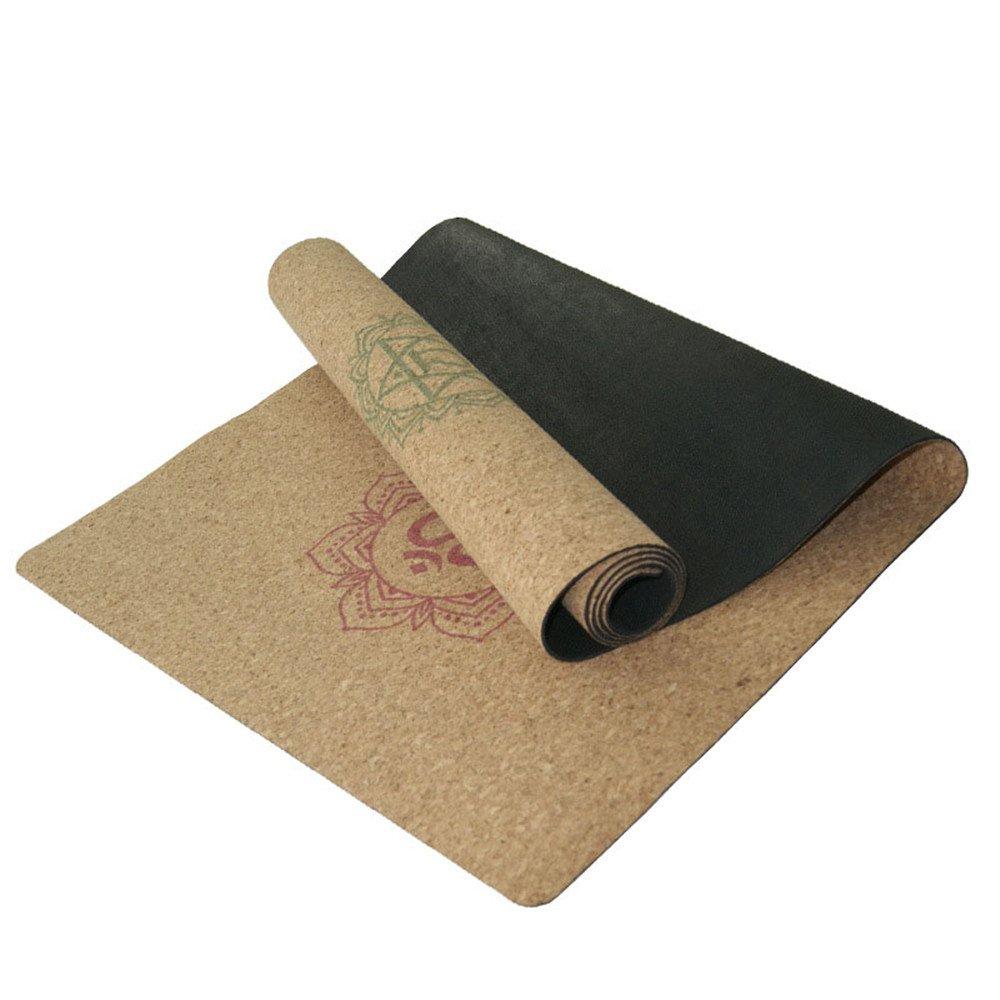 Aszhdfihas Stuoia di yoga Tappetino di sughero in gomma 3mm Stuoia di Yoga Mat stuoia per palestra per la famiglia.