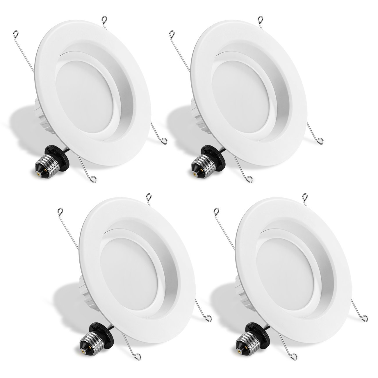 LVWIT LED 6'' Retrofit Dimmable Downlight 4000K Neutral White 1100 Lumens, 100W Equivalent 5 Year Warranty(4 Pack)
