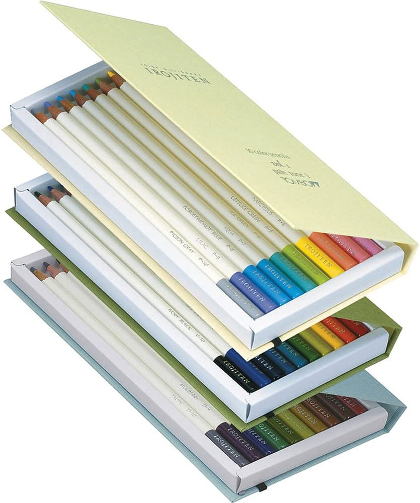 Tombow IROJITEN set of 30 colour pencil 2nd Edition Colour dictionary Woodlands