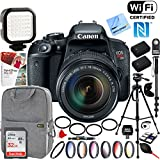 Canon (1894C003) EOS Rebel T7i Digital SLR Camera with EF-S 18-135mm IS STM Lens + 32GB SDHC Memory and Pro Accessory Bundle