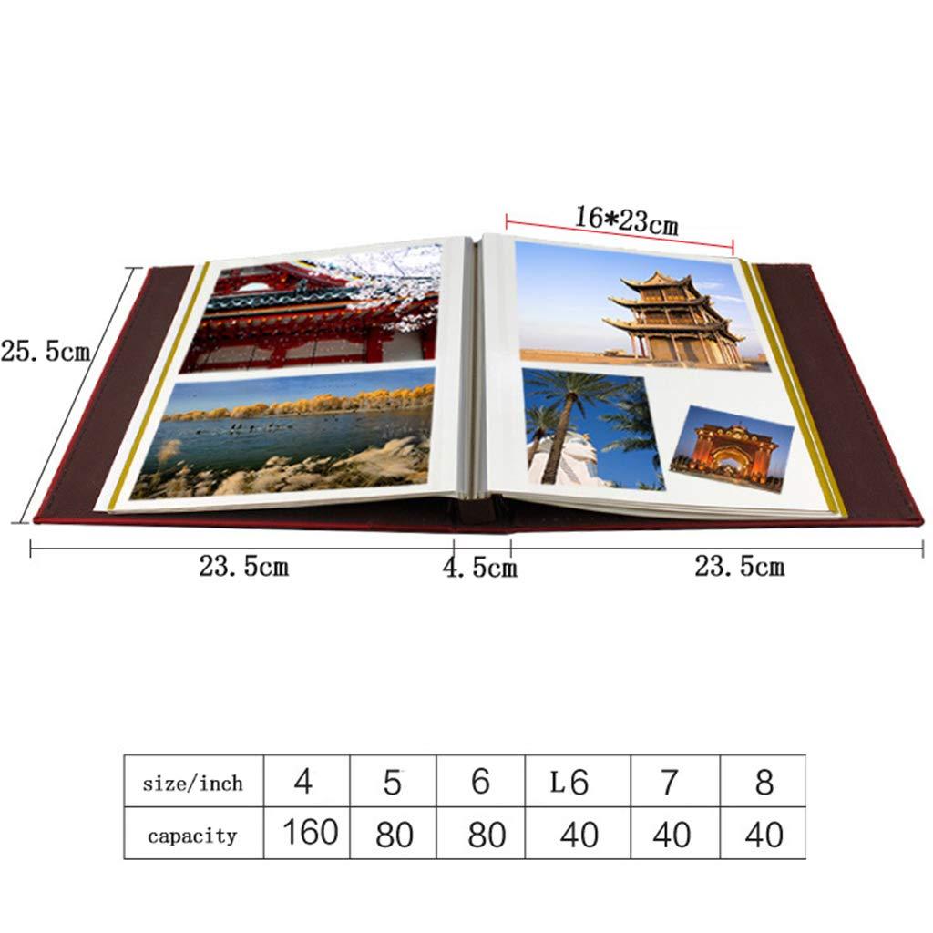 QUNA Álbum de Autoadhesivo Fotos Autoadhesivo de - 8 Pulgadas de álbum de álbum de Recortes magnético PU Cubierta de Cuero con Caja de Regalos,Rojo edc8fd