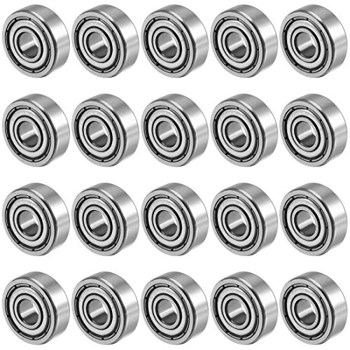 Small Bearing - uxcell 606ZZ 6mmx17mmx6mm Double Shielded Miniature Deep Groove Ball Bearing 20pcs