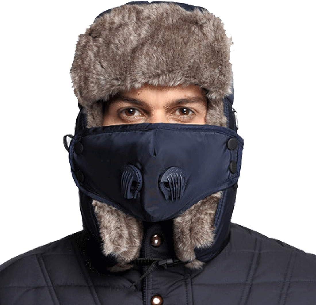 Windproof Bomber Cap Waterproof Unisex Ushanka Russian Hats Babymeo Winter Trapper Fur Hat Trooper Hats with Face Cover Men Women