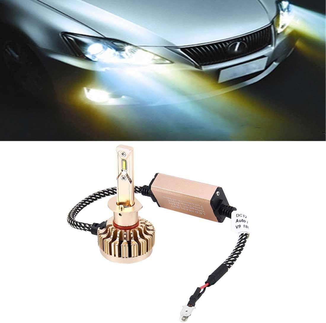 Faros LED de automoción 2 PCS H1 25W 2000LM 6000K Blanco Puro Philips ZES Linterna LED Bombillas Kit de conversión, DC 12-24V XY Lámpara Faros Luces de Trabajo Spotlight