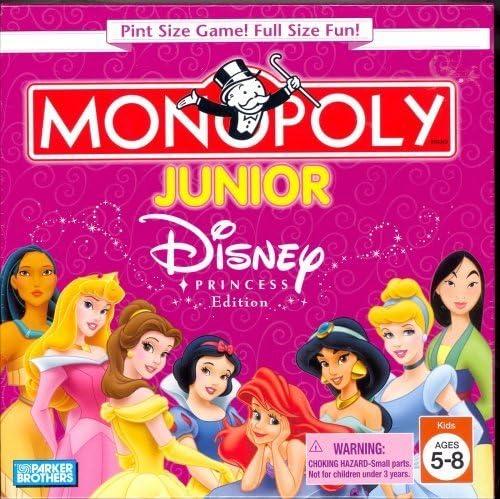 Disney Princess Edition Pint Size Monopoly Junior Game by Parker Brothers: Amazon.es: Juguetes y juegos