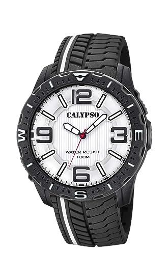 Calypso Watches Reloj Analógico para Hombre de Cuarzo con Correa en Plástico K5762/1: Amazon.es: Relojes