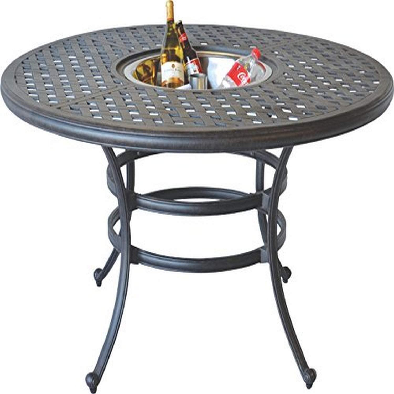 Amazon Com K B Patio Ld1031ad 52 Nassau Dining Table With Ice