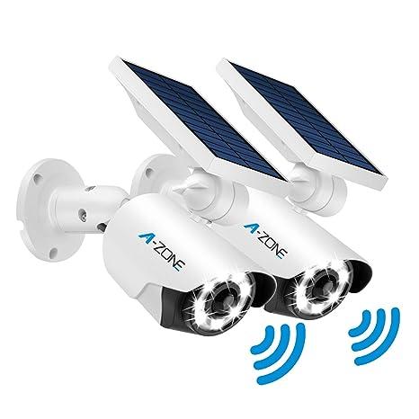 Amazon.com: Luces solares para exteriores con sensor de ...