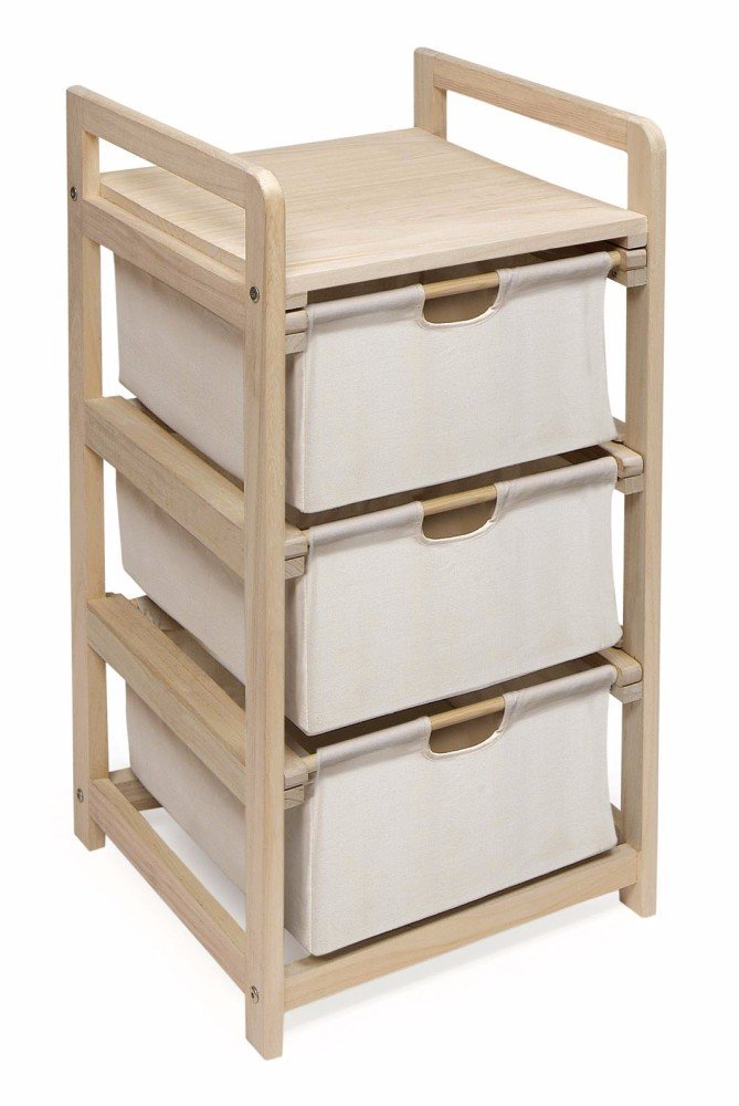 Badger Basket 3 Drawer Hamper/Storage Unit, Natural