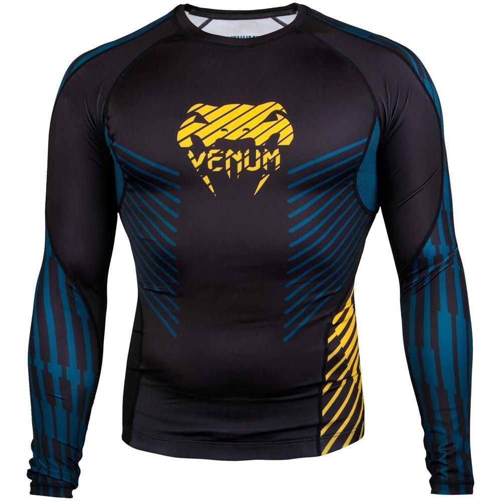 Venum Plasma, Rashguard Maniche Lunghe Uomo, Nero/Giallo, L Venum Plasma VENUM-03293-111-L