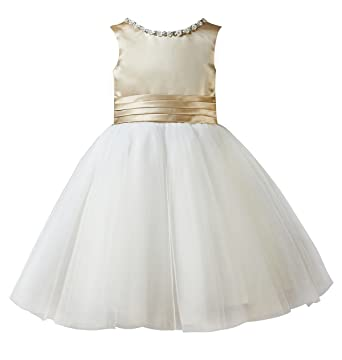 e956a2f215e princhar Ivory Tulle Flower Girl Dress Junior Bridesmaids Dress Toddler  Dress US 2T Ivory