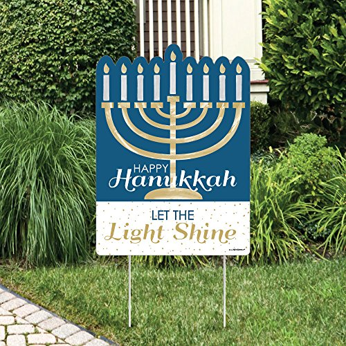 (Big Dot of Happiness Happy Hanukkah - Party Decorations - Chanukah Welcome Yard Sign)