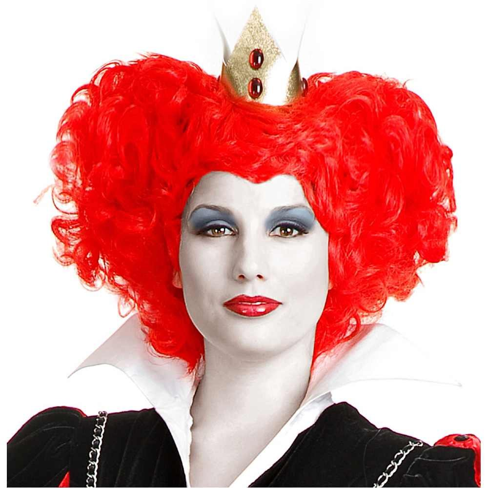 Red Queen of Hearts Wig Costume Accessory