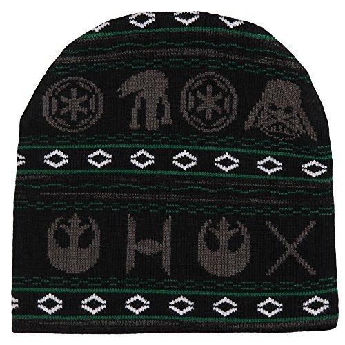 Star Wars Holiday Print Jacquard Knit Beanie - Import It All 7bed12b8354b