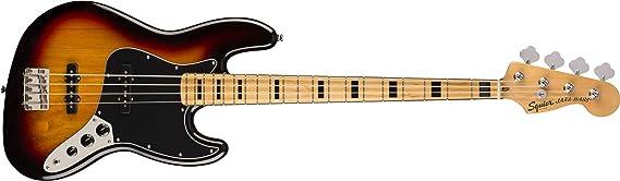 Squier by Fender Classic Vibe 70s Jazz Bass Guitar de Arce, Sunburst