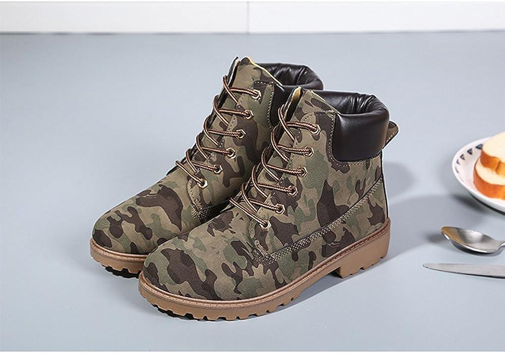 Gaatpot Damen Herren Warm Gefütterte Stiefel Schnür Stiefeletten Worker Boots Combat Boots Leder Winter Stiefel Schuhe