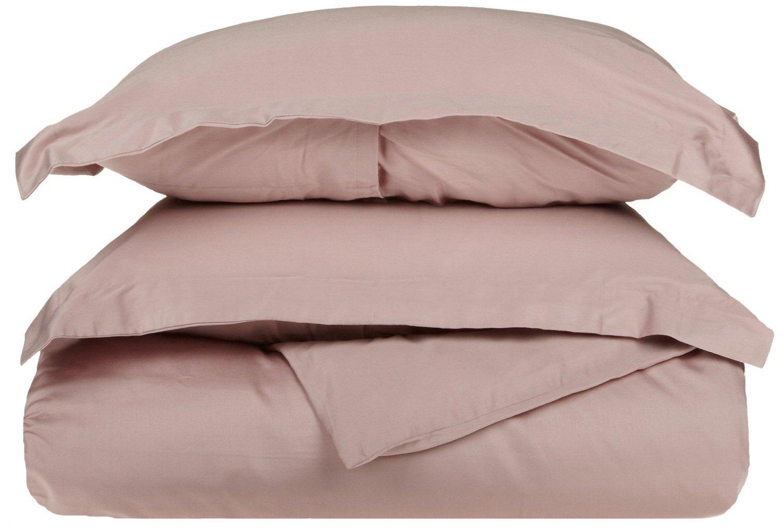 300-Thread Duvet Cover Set, Premium Long-Staple Cotton, Full/Queen, Lavender
