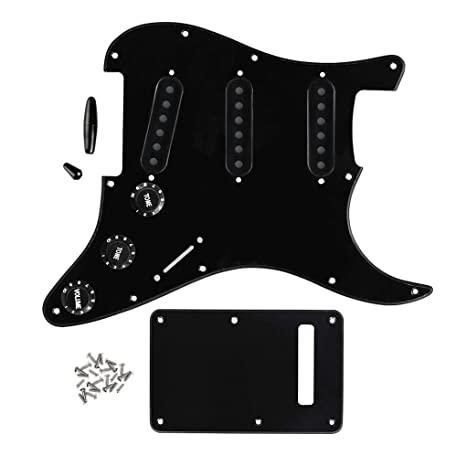 FLEOR guitarra partes SSS estilo Golpeador Placa trasera Set con 52 mm Pickup Covers (3pcs