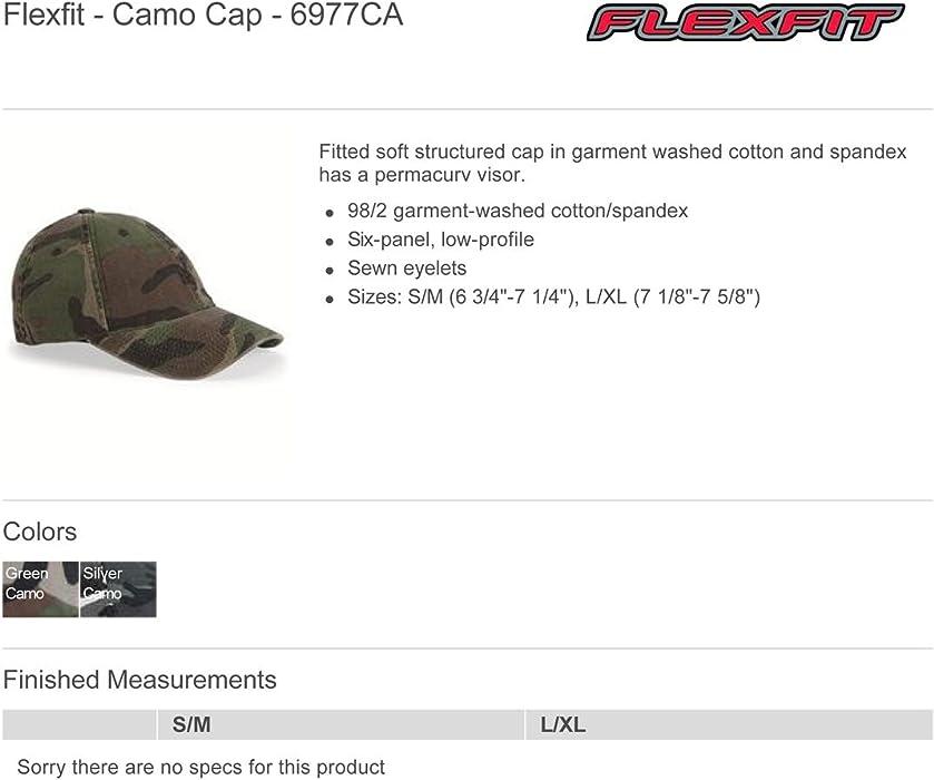 c9f7b334f0e4f Amazon.com  Flexfit mens Cotton Camouflage Cap(6977CA)-SILVER CAMO-S ...