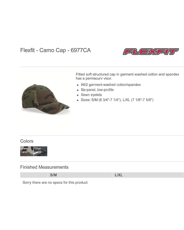 051795c01809f Flexfit Camo Cap. 6977CA - Green Camo - L XL at Amazon Men s Clothing  store  Baseball Caps