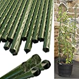 YIDIE Sturdy Metal Garden Stakes 30 Inch Plastic Coated Plant Sticks,Pack of 25