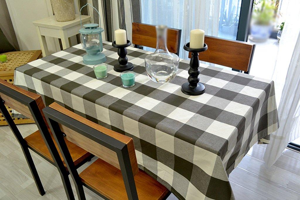 GRJH® テーブルクロス、フルサイズモダンな農村のシンプルなグリッドフレッシュコーヒーテーブルダイニングテーブル布の長方形ピンク 防水 ( サイズ さいず : 140x180cm ) B0792NZY5H 140x180cm 140x180cm