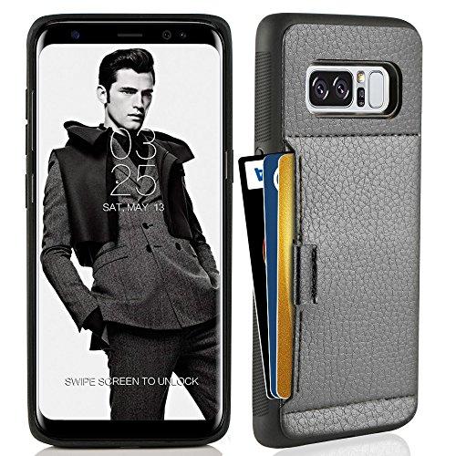Galaxy Note 8 Case , Samsung NOTE 8 Wallet Case , ZVE Samsung Galaxy Note 8 Case with Card Holder Leather Slim Wallet Shockproof Protective hybrid Case For Samsung Galaxy Note 8 6.3 inch 2017 (Black)