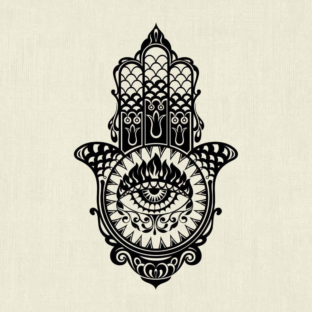 Hamsa Mano Tatuajes de Pared Hermosa Vinilos Decorativos Diseño ...