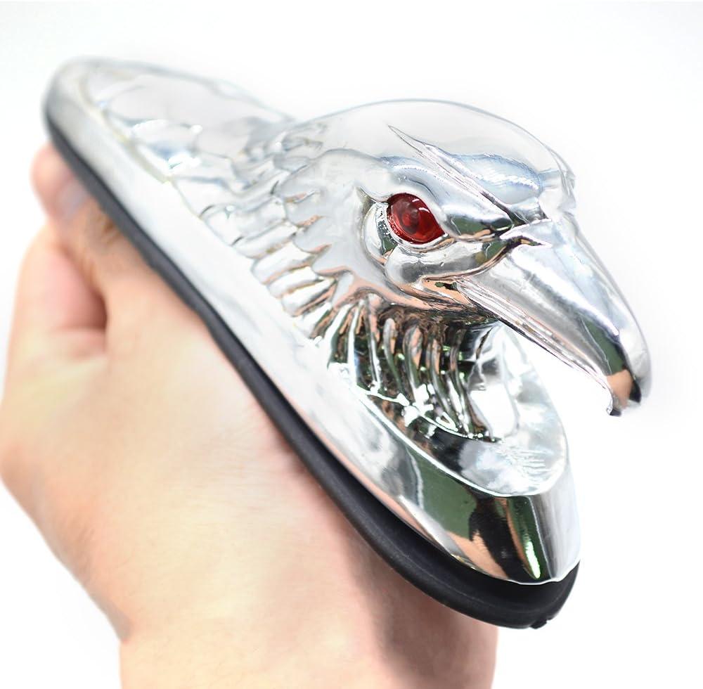 Universal Eagle Head Ornament Statue Motorcycle Bike Front Fender Mudguard for ATV Dirt Bike Frames /& Fittings Car Bonnet Chrome