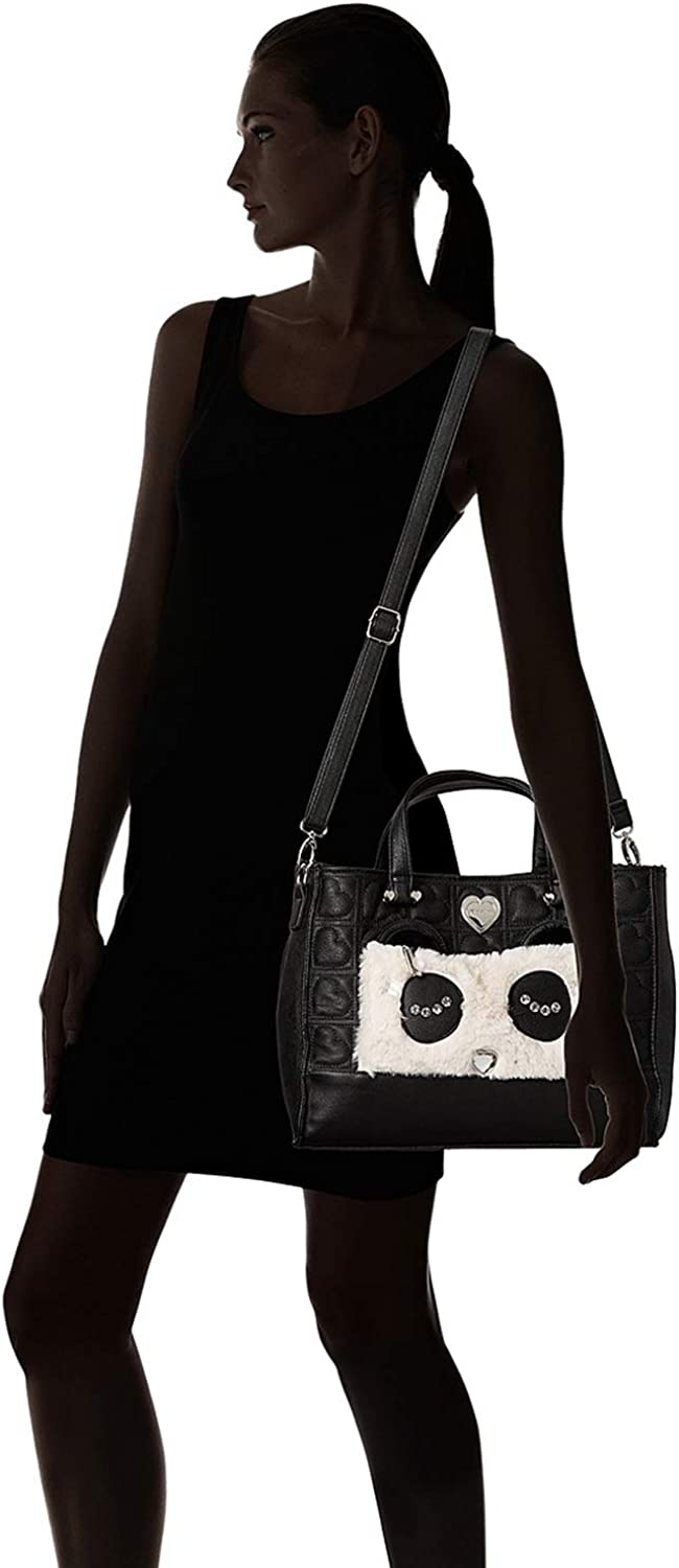 Betsey Johnson Womens Kitsch Tote with Pouch