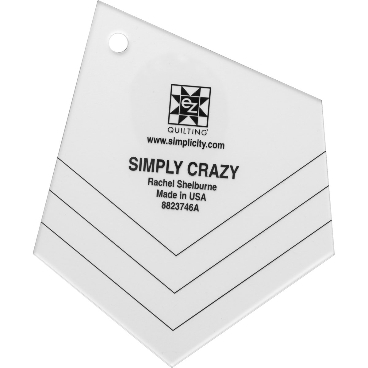 Wrights EZ Quilting 8823746 Simply Crazy Tool Simplicity Creative Group Inc