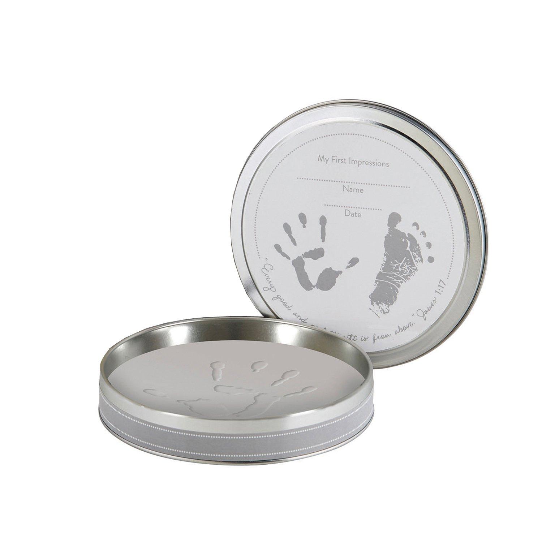 Stephan Baby Inspirational Clay Handprint/Footprint  Kit in Keepsake Tin