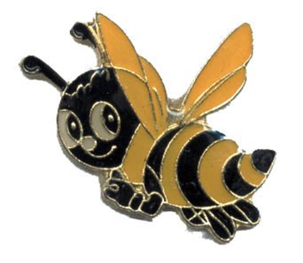 Lot of 12 Cute Happy Bee Hat Lapel Pins