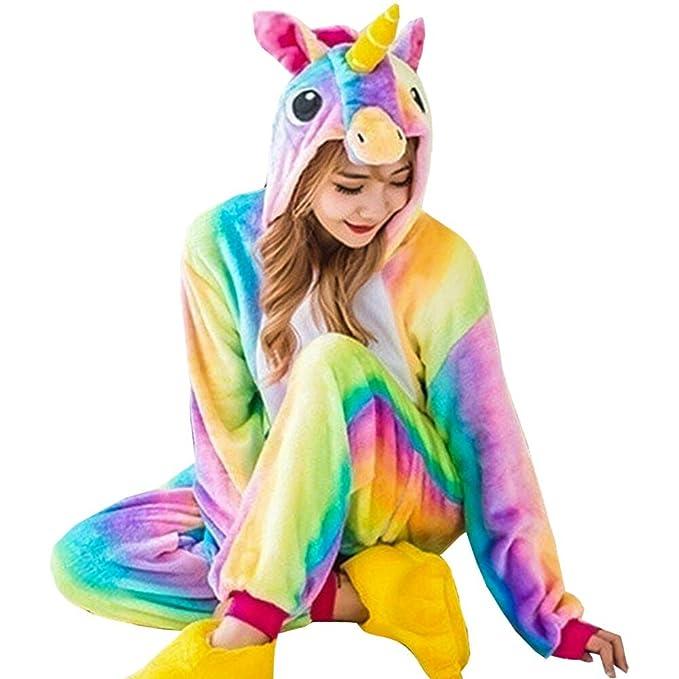 vraiment à l'aise sélectionner pour véritable 100% d'origine GOTH Perhk Unisexe Femme Enfant Combinaison Pyjama Licorne Pyjama Une Pièce  Unicorne â Capuche Costume Cosplay Déguisement H01-Femme S