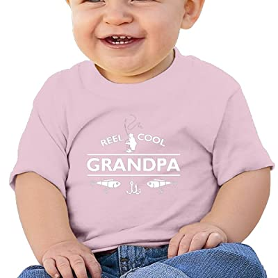 ZWD010kok Boys & Girls T Shirt Infant Reel Cool Grandpa Soft and Cozy 100% Cotton Unisex Black