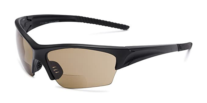 9773139c9076 Readers.com | The Elijah Bifocal Reading Sunglasses +1.50 Black with Amber  Sport &