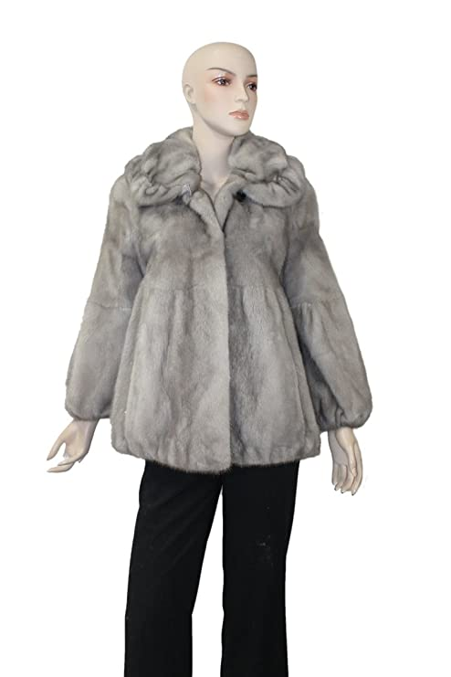 Amazon.com: 713274 nueva gris con chamarra de visón de ...