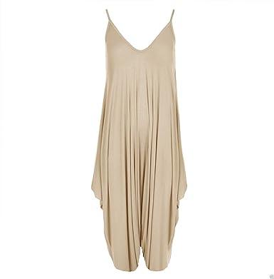 a27fefb0adb MIXLOT New Ladies Cami Lagenlook Romper Baggy Harem Jumpsuit Playsuit Dress   Amazon.co.uk  Clothing